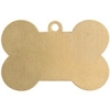 Metal Blank 24ga Brass 3Pc Dog Bone 25x13mm With Hole